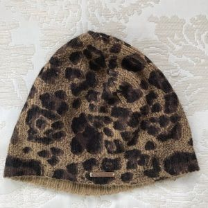 Michael Kors Leopard Hat One Size